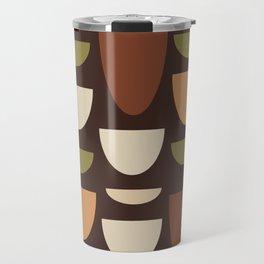 Brown & Orange Bowls Travel Mug