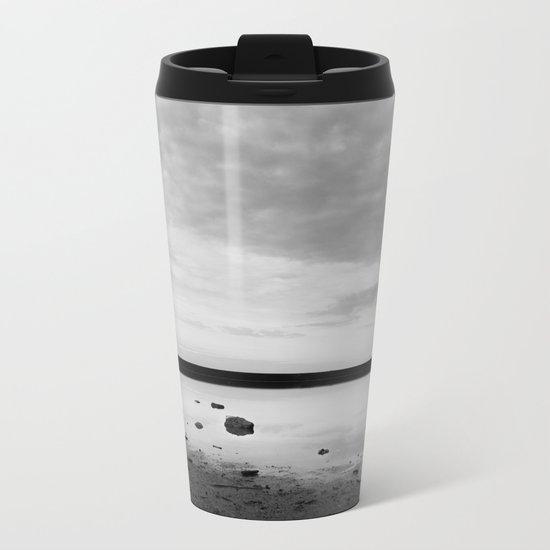 ISLAND STORIES IX BW Metal Travel Mug
