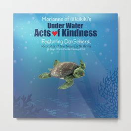 Under Water Acts of Kindness: Da General Metal Print