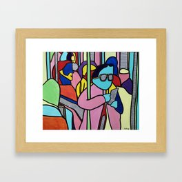 People on the bus Framed Art Print