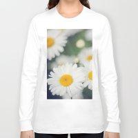 daisies Long Sleeve T-shirts featuring Daisies by Beata Heart