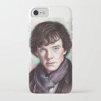sherlock holmes iPhone & iPod Cases featuring Sherlock Holmes by Olechka