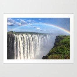Victoria Falls , Africa, Zambia, Zimbabwe Art Print