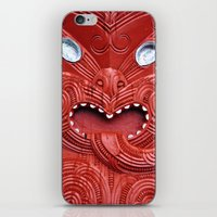 maori iPhone & iPod Skins featuring Maori Carving by steffiiiii