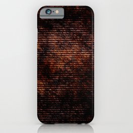 Dark brown red brush iPhone Case