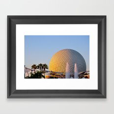 Epcot Ball Framed Art Print