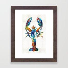 Colorful Lobster Art by Sharon Cummings Framed Art Print