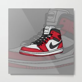 Jordan1-OG Chicago Metal Print