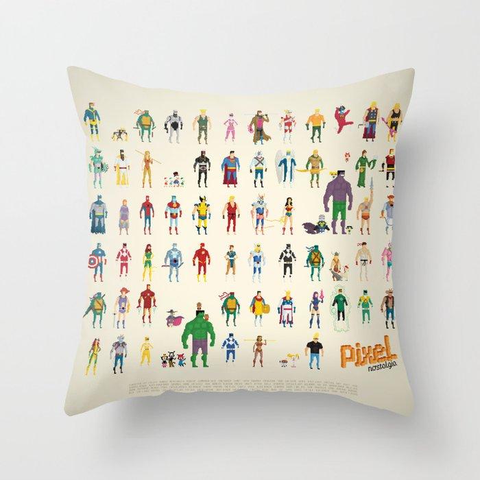 Pixel Nostalgia Throw Pillow