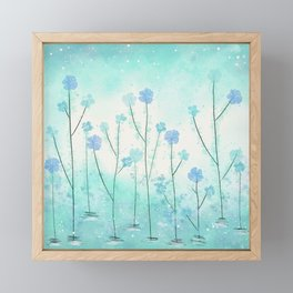 Turquoise Field of Flowers Framed Mini Art Print