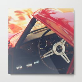 Triumph spitfire, english sports car fine art photography, classy man cave print Metal Print