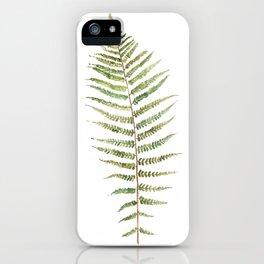 Botanical Single Leaf Fern iPhone Case
