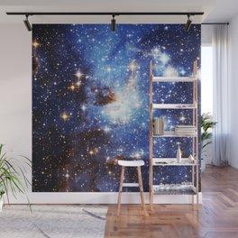 Blue Galaxy Wall Mural