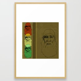 An Old Man and his Beard Framed Art Print