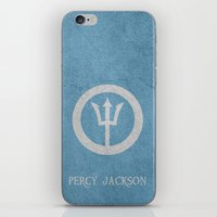 percy jackson iPhone & iPod Skins featuring Percy Jackson by Dan Lebrun