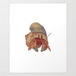 Winter Hermit Crab Art Print