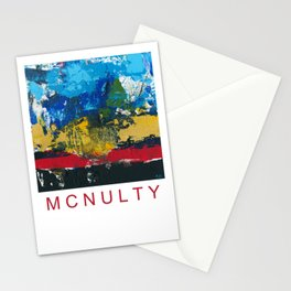 Lucas Abstract Painting Blue Black Yellow Stationery Cards