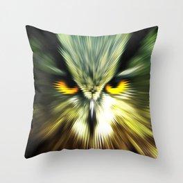 BAD OWL Throw Pillow