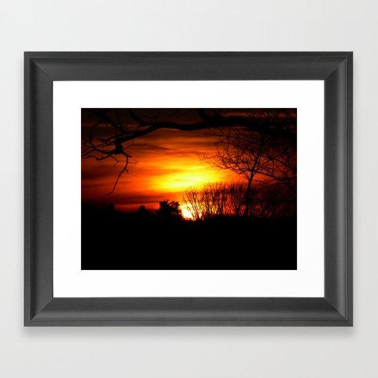 sunset v Framed Art Print