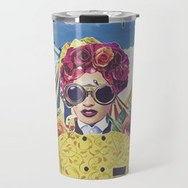 Steampunk Floral Travel Mug