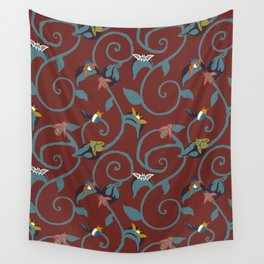 Wine Bug Swirl Wall Tapestry