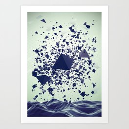Fly geometry Art Print