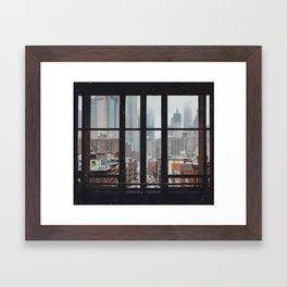 New York City Window Framed Art Print