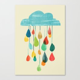 cloudy with a chance of rainbow Canvas Print