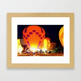 Light Up Nite Framed Art Print