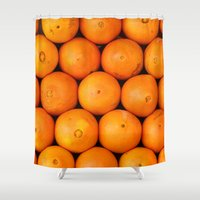 casablanca Shower Curtains featuring Oranges by Barbo's Art