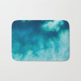 Blue Corruption Bath Mat
