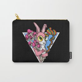 Psychedelic Bunny Magic Mushrooms Rabbit Carry-All Pouch
