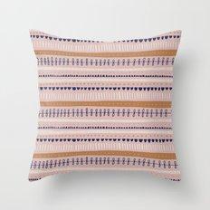 Pink & Orange Pattern Throw Pillow