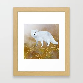 Polarfuchs Framed Art Print