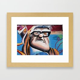 'Up' Street Art Framed Art Print