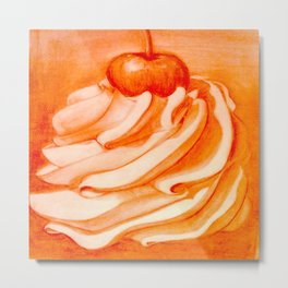 Whip Cream with a Cherry on Top Metal Print