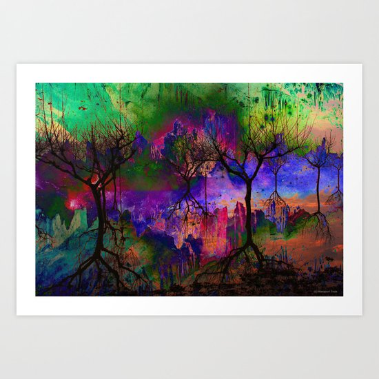Everything is nothing 3 (therefore it was beautiful) Art Print