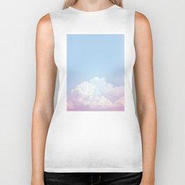 Dreamy Cotton Blue Sky Biker Tank
