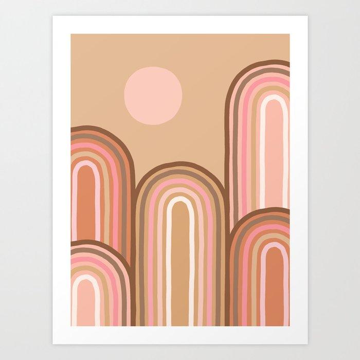 Above the Rainbows Art Print