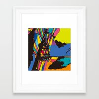 the wire Framed Art Prints featuring wire by PINT GRAPHICS