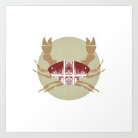 crab Art Prints featuring Crab by tangledribbons