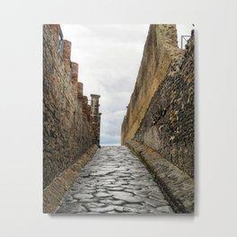 A Street in Pompeii Metal Print