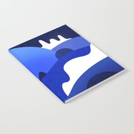Terrazzo landscape blue night Notebook