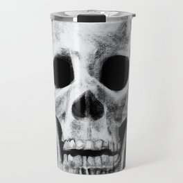 Skull on Black Travel Mug