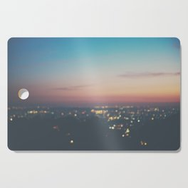 Looking down on the lights of Los Angeles as night. Cutting Board