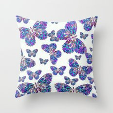 Mandala Butterfly Collage Throw Pillow