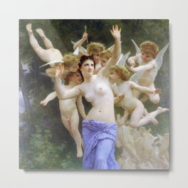 The Heart's Awakening 1892 by William-Adolphe Bouguereau Metal Print