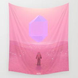 Lost Astronaut Series #03 - Floating Crystal Wall Tapestry
