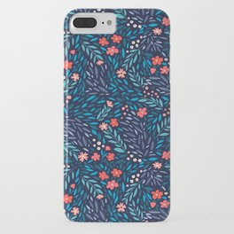 Teeny Tiny Floral Blue iPhone Case