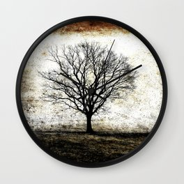 One Fog Tree Warm Wall Clock